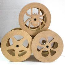Carretilha Para Pipa De Madeira 21cm Corte/laser