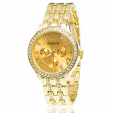 Reloj Geneva Metalico Foto Real Para Mujer Hermoso Diseños