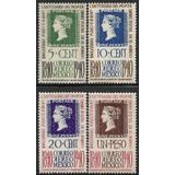 1940 Centenario Del Primer Timbre Postal Sc C103-c106 Mn