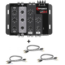 Kit Crossover Taramps Crx4 4 Vias + 3 Cabos Rca 1 Metro Plus