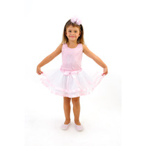 Fantasia Infantil Tutu Bailarina Luxo Menina Saia Branca