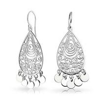 Aretes De Plata Bling Jewelry Candelabro Filigrana Bohemia