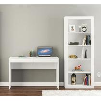 Mesa Escrivaninha Com Estante P/ Ambiente C/ Pouco Espaço Lv