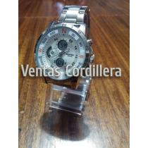 Reloj Bistec Digital&análogo Correa Acero,deportivo, Wr