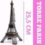 20x Torre Eiffel Paris 25 Cm Metal Promoção Decoração 15anos