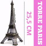 30x Torre Eiffel Paris 25 Cm Metal Promoção Decoração 15anos