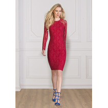 - Elegante Vestido De Encaje Andrea Escote Redondo 1241099