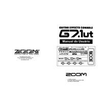 Manual Pedaleira Zoom G7 1ut Em Português (arquivo Pdf)