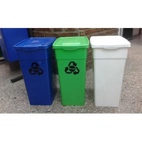 Cesto Basurero Residuos Ecologico 50 Litros
