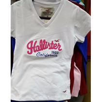 Baby Look Hollister Camiseta Feminina - Kit Com 3 Unidades