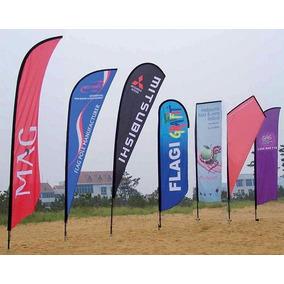 Fly Banners 2,3mts Con Estaca Todos Los Modelos!!!