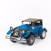 Miniatura Carro De Lata Antigo - Azul