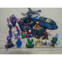 Lego X-men Pássaro Negro Wolverine Xavier + Total 15 Bonecos