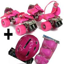 Patin Metal Exten 28a41 +casco+rod+cod+muñeq/ Open-toys125