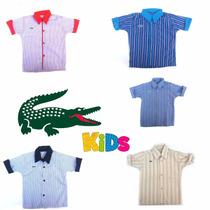 Camisa Infantil Roupa Social Menino 5 Cores