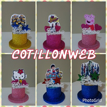 Centro De Torta Sombrero Feliz Cumple Cotillon
