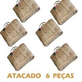 Kit Com 6 Bolsas De Palha, Preço De Atacado Para Revenda.
