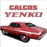 Calco Cupe Chevy Yenco Franjas - Calcomania Ploteoya!
