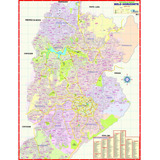 Mapa Político Gigante - Município Cidade De Belo Horizonte