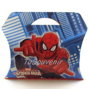 Caja Cajita De Carton Spiderman Souvenirs Hombre Araña Varon