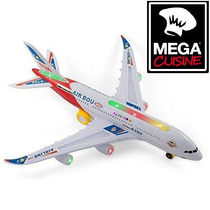 Avion Airbus A380 A Pilas Con Luces Y Sonido Super Largo43cm