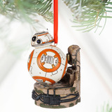 Star Wars Bb-8 Ornamento Navideño Con Luces Led Disney Store