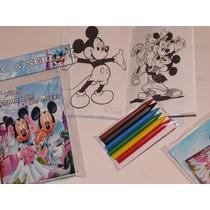 10 Libros Colorear 15x20 Cm Personalizados Mas 6 Crayones
