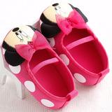Sapatilha Sapato Minie Bebê Menina Festa Laço Disney Rosa