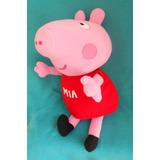 Peppa Pig Peluche Gigante Personalizado Con Nombre 56 Cm