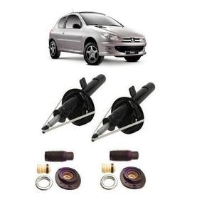 Par De Amortecedor + Kit Dianteiro Peugeot 206 / 207 Novo