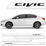 Promoção Friso Lateral New Civic 2013 2014 2015 2016 Branco