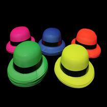 Sombrero Bombin Neon Para Fiestas Eventos Neon