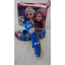 Sapatilha Infantil Frozen Elza Com Bolsa Sapato Criança
