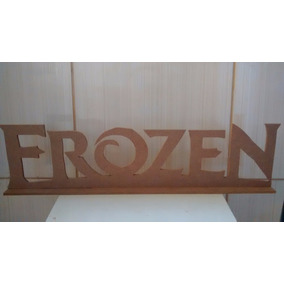 Nomes Letras Mdf 6mm 70 Cm Frozen Decoração Festa Madeira Pé
