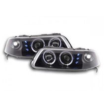 Farol Vw Gol G3 Angel Eyes Led 1999 À 2005 + Kit Xenon