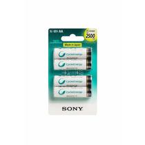 Pilas Recargables Aa Sony Cycle Energy X4 Unidades 2500mah