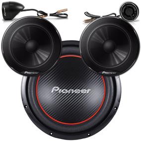 Kit 5 Pioneer - Qualidade E Potência - Kit 2 Vias + Sub Ts-w