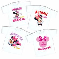 10 Playeras Minnie Mouse Personalizada Fiesta Envío Gratis