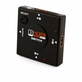 Switch 3 Portas Hdmi Exbom Ref:9527