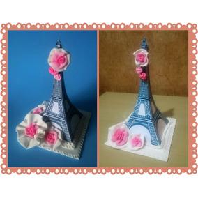 Adorno P/ Tortas Centros De Mesa Paris Torre Eiffel 15 Años