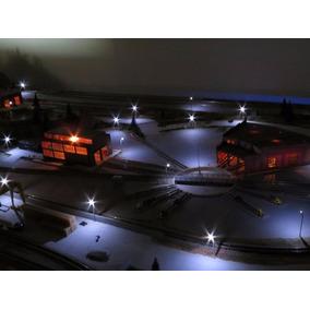 Kit Iluminação Para Slotcar - 6 Postes De 20 Cm + Acess.