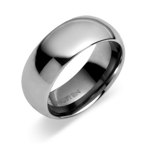 Anillo Gay 8 Mm Comfort Fit Tungsten Carbide Domed Ring,