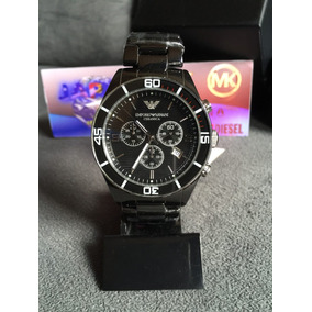 Relógio Emporio Armani Ar1421 Cerâmica Preta Completo Caixa