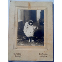 Antigua Foto Carton Bellisima Firmada Atras 1913 Leer Medida