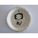 Plato De Porcelana Con Perrito- Tienda Puro Diseño