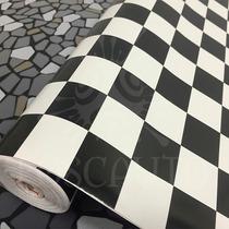Papel Parede Auto Adesivo Monza Xadrez Dcfix - 1m X 45cm