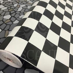 Adesivo Parede Cozinha Geladeira Monza Xadrez - 1m X 45cm