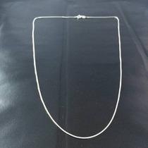 Promoção Corrente Prata Maciça 925 Masculina Fina 45 Cm