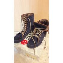 Botas De Gamuza Azul - Zuca