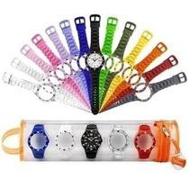 Relógio Com 5 Kit Troca Pulseiras Melhor Preço/frete Atacado